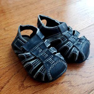 Bullfrogs Black & Gray Sandals - Toddler/Baby